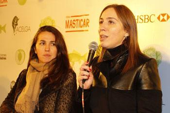 Narda Lepes y María E. Vidal en la presentación de Masticar 2013